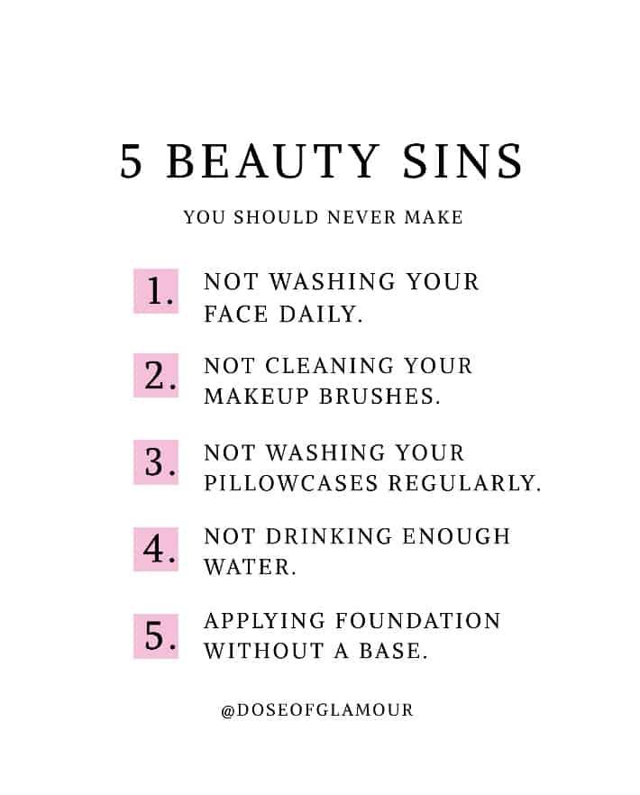 5 beauty mistakes