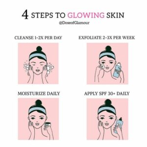 4 steps to glowing skin