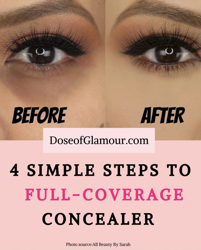 How to conceal dark circles.